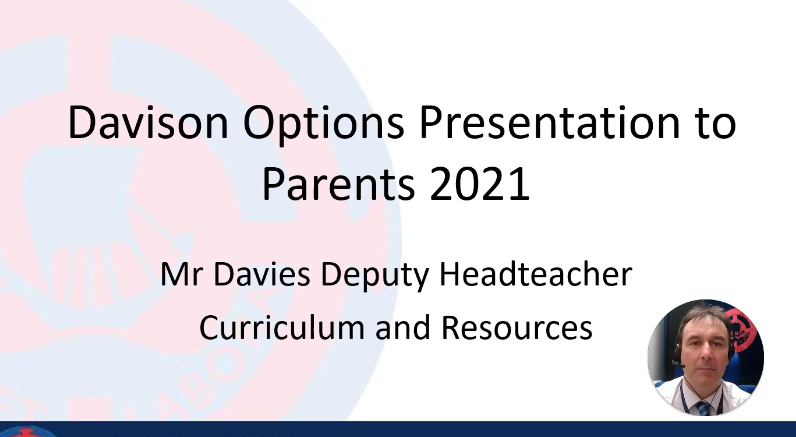 Presentation to parents